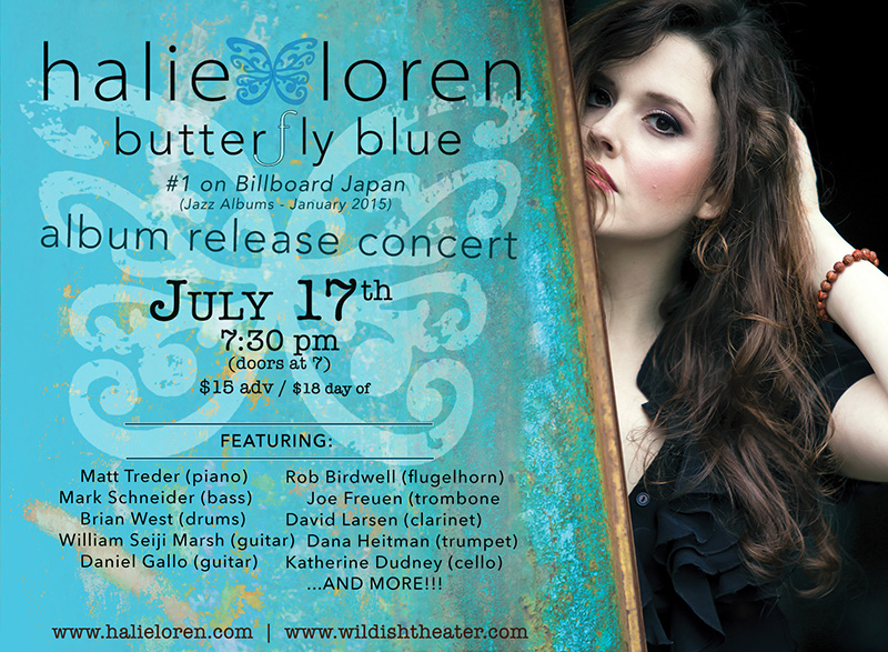 Halie Loren album release concert at the Wildish Theater, Springfield, OR