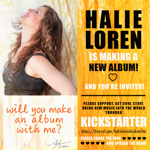 Halie Loren is making a new album - the Kickstarter campaign